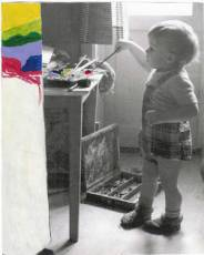 Lille Thomas maler
